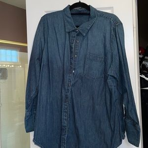 26w lands end long sleeves tunic shirt